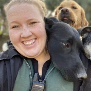 Dogs with Pet Camp counselor
